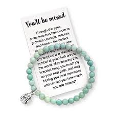 coworker leaving gift for women farewell bracelet with message card gift box