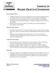 resume good objective statement  foodcity.me