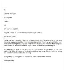 Follow Up Letter Sample Business Letter Template