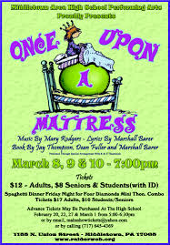 once upon a mattress broadway poster. OUAM Middletown HS 2018 Once Upon A Mattress Broadway Poster E