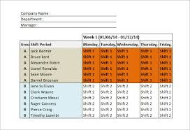 Shift Scheduling Excel Shift Schedule Templates 12 Free Word Excel Pdf Format Download