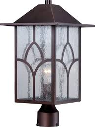 Nuvo Lighting 60 4909 Nuvo Lighting 60 5645 Stanton Post One Light Lantern 100 Watt A19 Outdoor Porch And Patio Lighting With Clear Seeded Glass Claret Bronze