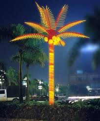 1 lighted led palm tree