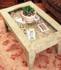Perfect Post Glass Display Coffee Table