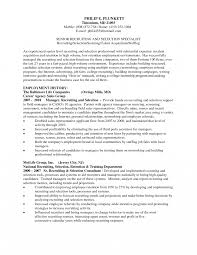 Talent Acquisition Specialist Resume Example Samples Velvet Jobs