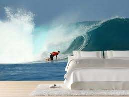 surfer on big wave wall mural surfer