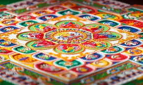image of sand painting a ceiling