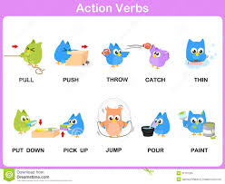 kids verbs clipart clipartfest action verbs picture