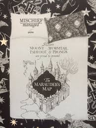 harry potter marauder s map reversible bedding set double or single primark