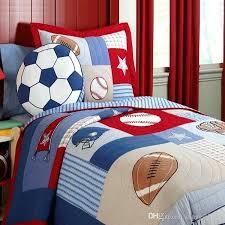 soccer bed set boy bedding set rugby football soccer handmade quilt kids bedding set applique patchwork soccer bed set