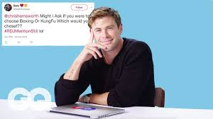 Hemsworth Gq Chris Youtube Quora Twitter - Goes And On Undercover