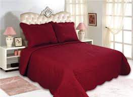 All for You 3pc Reversible Quilt Set, Bedspread, and Coverlet--5 ... & All for You 3pc Reversible Quilt Set, Bedspread, and Coverlet--5 different  sizes-Burgundy color ( full/queen 86