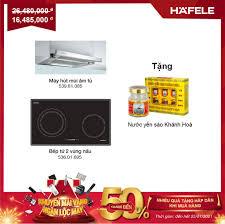 Combo bếp 2 từ + máy hút âm 90cm + Tặng Nước Yến Xào Hafele