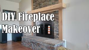diy stone fireplace makeover ourhouse diy