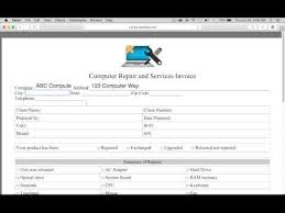 Computer Invoice Software How To Make A Computer Repair Invoice Excel Word Pdf