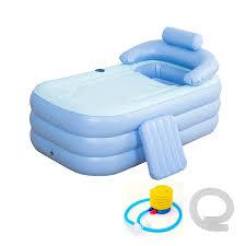 foldable inflatable bathtub 160x84x64cm pvc bath tub with air pump