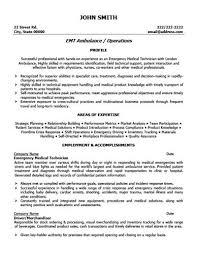 Emt Resume Objective Emt Resume Sample Ted Sweeten Cover Letter