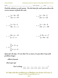 18 new solving systems of equations by substitution worksheet pdf