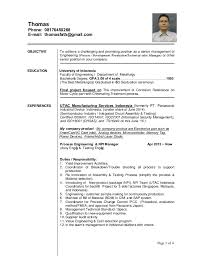 my cv update 0515 page 1 of 4 objective to achieve a challenging and  promising position