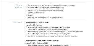 Makeup Artist Resume Examples Makeup Artist Resume Templates Mac ...