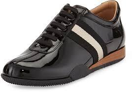 bally frenz patent leather sneaker black