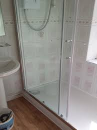 replacing a bath with a shower enclosure with bathroom installation in leeds