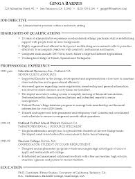 Gallery Of Resume Administrative Position At A University Susan