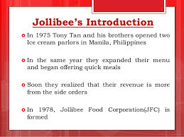 Jollibee Food Corporation Organizational Chart Jollibee Foods Corporation Case Study Ppt