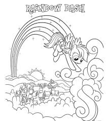 Rainbow Dash Coloring Pages Free Download Jokingartcom Rainbow