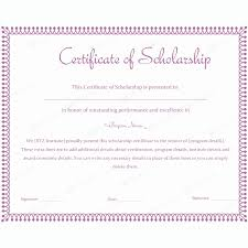Scholarship Certificate Template For Word Scholarship Award Certificate Templates Bkperennials