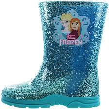 disney frozen glitter girls kids wellies welly boots blue 6 7 8