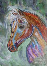 horse painting free as the wind horse abstract painting by ella kaye ey