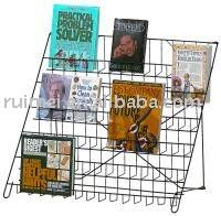 Metal Display Racks And Stands Open Countertop Book shelf Magazine Display Stand Literature 75