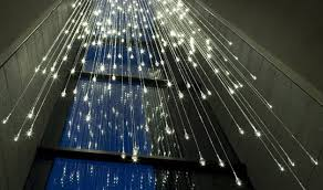 lighting shower. uk recreates a rain shower frozen in time munro strung up hundreds of sparkling raindrops made out tiny led lights transforming the space into an lighting