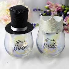 groom gifts personalised bridal party gifts australia Wedding Gifts For Bride And Groom Australia bride & groom stemless wine glass & party crown personalised wedding gifts for bride and groom australia