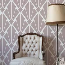 pattern furniture. Art Deco Vintage Diamond Pattern Stencil Furniture