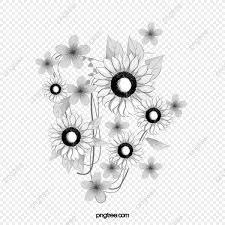 無料ダウンロードのためのヒマワリ 手描きひまわり 白黒ひまわり 向阳花