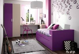 Purple Bedrooms For Girls Cool Dotted Purple Wall Decals And Purple Base Sleeper Couch Also