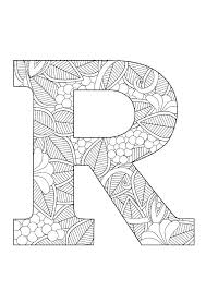 Letter R Coloring Pages R Coloring Page Letter Pages Floral By On