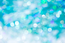 Lights On Blue Background Holiday Bokeh Abstract Christmas