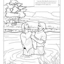 John The Baptist Baptizing Jesus Coloring Page Chronicles Network