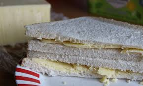 Cheddar Cheese Sandwich With Butter In White Bread Allsandwichescom