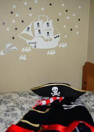 glow in the dark pirate ship wall decal