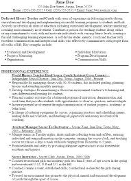 Resume For Sports Coach Resume Sports Coach My Sport Fitness Coach