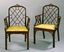 Chippendale Furniture Good Pair Of Cockpen Armchairs In The Chinese Chippendale Taste