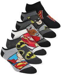 Justice Sock Size Chart Little Boys 6 Pk Justice League No Show Socks