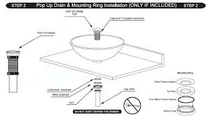 vessel sink installation vessel sink drain installation instructions