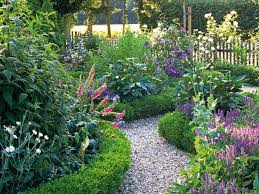 Small Picture Cottage Garden Designs We Love Boxwood hedge Hgtv and Salvia