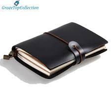 details about genuine black leather pocket journal diary handmade travel note pad to write in