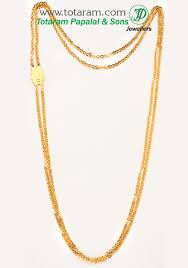 22k gold chain andhra chandraharam in length 24 0 inches